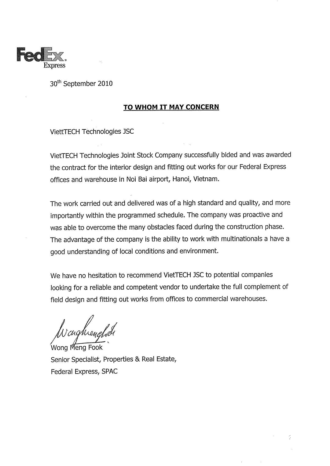 Reference letter vietdecor reference letter expocarfo Choice Image